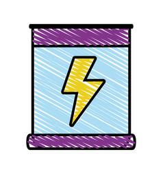 Poster with energy hazard symbol vector