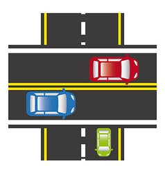 road traffic vector image vector image