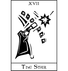 Star Tarot Card vector image vector image