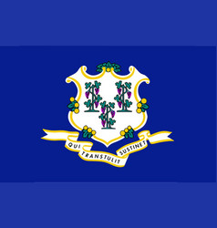 State flag of connecticut vector