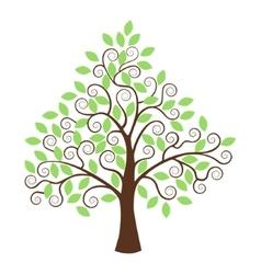 Stylized tree isolated on white background vector