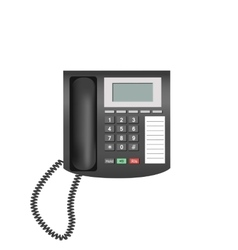 Telephone isolated on white background vector image vector image