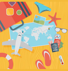 travel background flat vector image