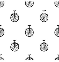 Unicycle for the circus bicycle with one wheel vector