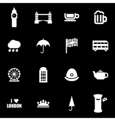 White london icon set vector