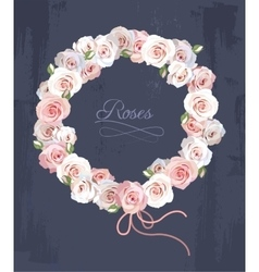 Wreath made of roses vector image vector image