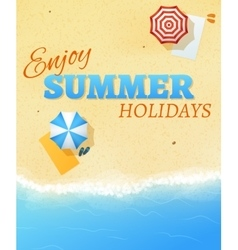 Summer beach party banner flyer background vector