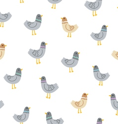 Pigeons seamless pattern vector
