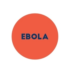 Stylish icon in color circle ebola alert vector