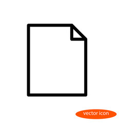 linear image of a blank sheet of paper a vector image