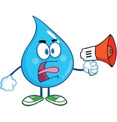 Water droplet cartoon character vector image