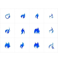 Gas fire icon set vector