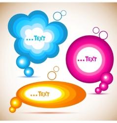 Colorful paper speech bubble vector