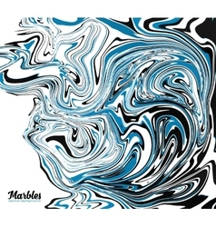 Black blue and white marble style abstract vector