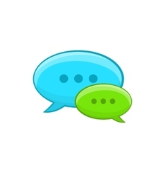 Speech bubble conversation icon cartoon style vector