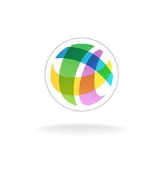 Abstract colorful round sphere logo template vector image vector image