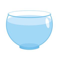 Aquarium empty round isolated glass fishbowlon vector