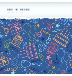 Birthday horizontal torn seamless pattern vector image