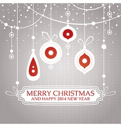 Christmas retro vintage greeting card vector image vector image