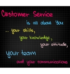 Customer service is all about you vector