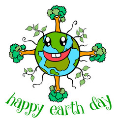 doodle earth day style collection vector image vector image