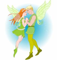 fairy couple vector image vector image