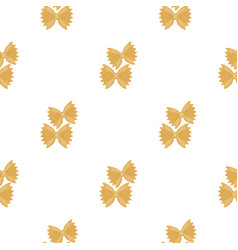farfalle icon pasta in cartoon style isolated on vector image vector image