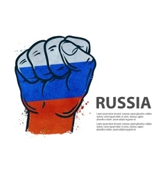 fist flag Russia Moscow vector image vector image