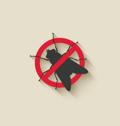 fly warning sign vector image