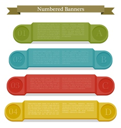 Full colors numbered banners vector image