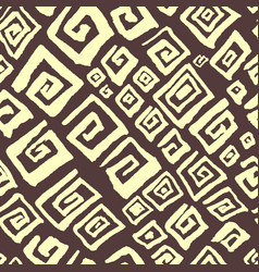 Hand drawn artistic seamless pattern with vector