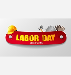 Labour day banner vector