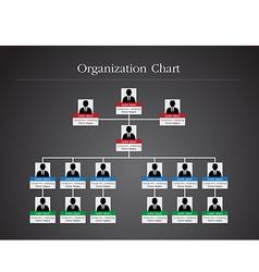 Organization chart infographics 2 vector