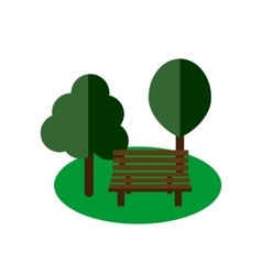 Park bench flat vector