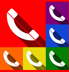 Phone sign set of icons with vector