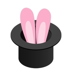 Rabbit in the hat isometric 3d icon vector image