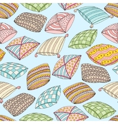 seamless pattern with colorful pillows vector image vector image