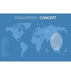 Searching people crime Fingerprint searching vector image