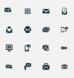 Set of simple message icons vector