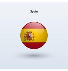 Spain round flag vector
