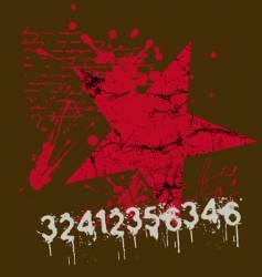 star number grunge vector image vector image