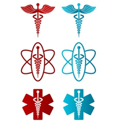 vector caduceus icons vector image