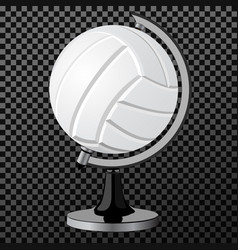 Volleyball a creative concept simple vector