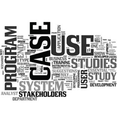 What are use case studies text word cloud concept vector