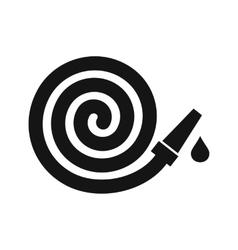 Garden hose icon simple style vector