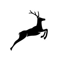 Jumping Deer - silhouette vector image