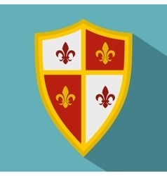 Royal shield icon flat style vector