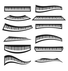 Piano keyboards isolated vector