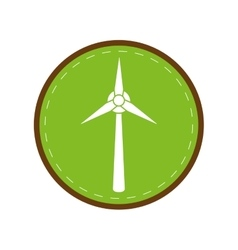 Ecology wind turbine electricity generator green vector