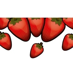 Isolated strawberry fruit design vector
